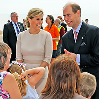 The Earl & Countess of Wessex at Bexhill to open the Diamond Jubilee Walk on 5th July 2012