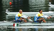 2004 FISA World Cup Regatta Lucerne Switzerland. 19.06.04..Photo Peter Spurrier.ITA M2X Bow Rossano Galtarossa and Alessio Sartori Rowing Course, Lake Rottsee, Lucerne, SWITZERLAND. [Mandatory Credit: Peter Spurrier: Intersport Images]