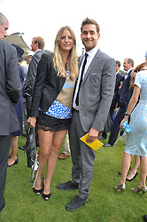 OLIVER JACKSON-COHEN and FREDERICA LOVELL-PANK at the 3rd day of the 2012 Glorious Goodwood racing festival at Goodwood Racecourse, West Sussex on 2nd August 2012.