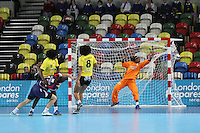 Great Britain vs Angola - London Handball Cup - London 2012 Olympics test event, London 2012 Olympic Park , Stratford, London, UK. 23 November 2011. Contact: Rich@Piqtured.com +44(0)7941 079620 (Picture by Richard Goldschmidt)