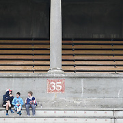 Fans of the Boston Cannons watch the action during the game at Harvard Stadium on April 27, 2014 in Boston, Massachusetts. (Photo by Elan Kawesch)
