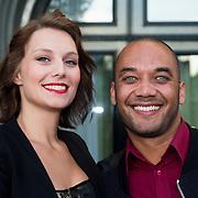NLD/Amsterdam/20130903 - Inloop premiere Stiletto 2, Ruben Heerenveen en partner