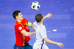 Ortiz of Spain during futsal match between Spain and France at Day 2 of UEFA Futsal EURO 2018, on January 31, 2018 in Arena Stozice, Ljubljana, Slovenia. Photo by Ziga Zupan / Sportida