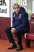 West Ham United Manager Manuel Pellegrini  during the Premier League match between Burnley and West Ham United at Turf Moor, Burnley, England on 9 November 2019.
