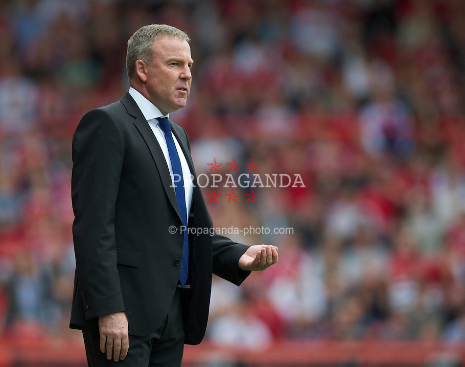 BRISTOL, ENGLAND - Saturday, August 7, 2010: Millwall's manager Kenny Jackett during the League Championship match against Bristol City at Ashton Gate. (Pic by: David Rawcliffe/Propaganda)