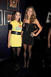 Left to right, AMBER LE BON and SABRINA PERCY at the Tatler Magazine Little Black Book party at Tramp, 40 Jermyn Street, London SW1 on 5th November 2008.