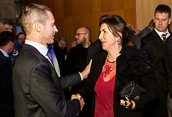Aleksander Ceferin, president of UEFA and Barbara Kürner Čad during Traditional New Year party of of the Slovenian Football Association - NZS, on December 20, 2018 in Gospodarsko razstavisce, Ljubljana, Slovenia. Photo by Vid Ponikvar / Sportida