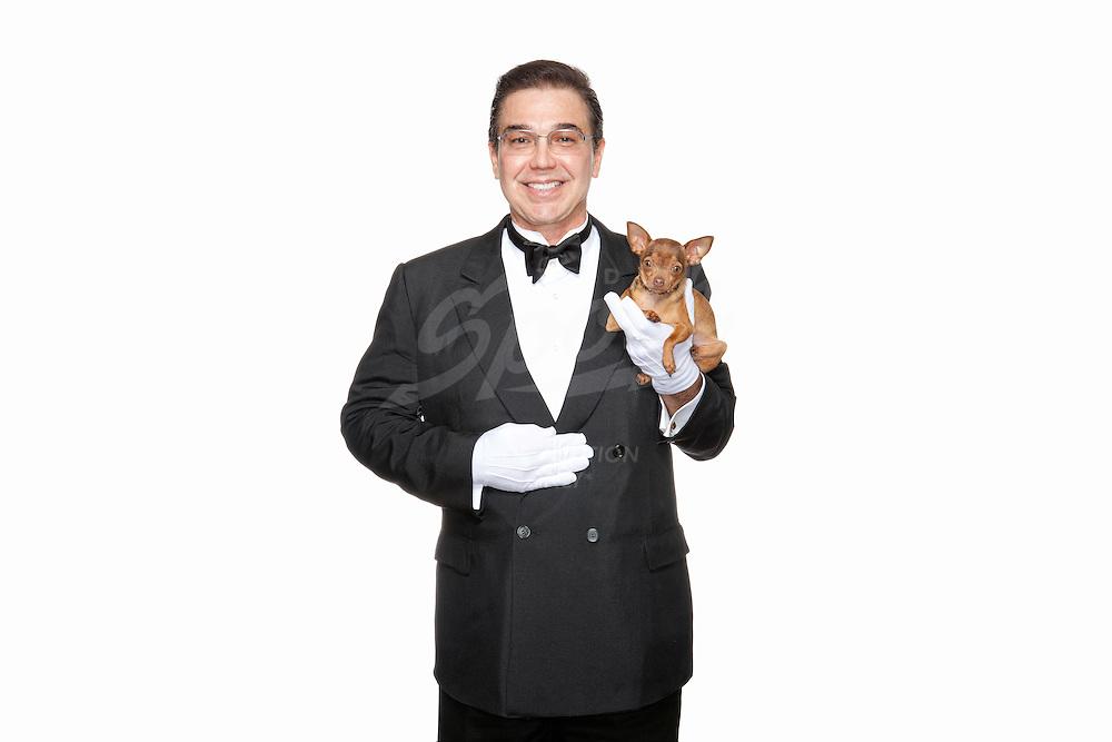 Portraits of professional butler, Edward Ordonez.