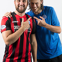 Lee Croft and Murray Davidson, St Johnstone FC...Season 2014-2015<br /> Picture by Graeme Hart.<br /> Copyright Perthshire Picture Agency<br /> Tel: 01738 623350  Mobile: 07990 594431