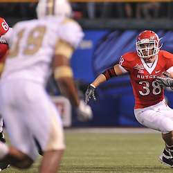 Dec 19, 2009; St. Petersburg, Fla., USA; Rutgers running back Joe Martinek (38) runs in open space during NCAA Football action in Rutgers' 45-24 victory over Central Florida in the St. Petersburg Bowl at Tropicana Field.