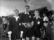 13/08/1952<br /> 08/13/1952<br /> 13 August 1952<br /> <br /> Soccer referee and linesman, Noel Flynn (left), T Ryan, soccer referee and linesman (right) and John Igoe, soccer referee (centre)