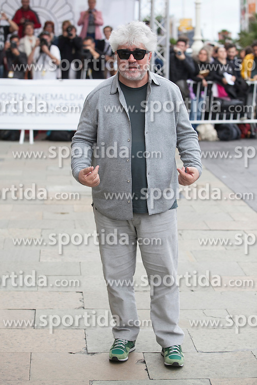 23.09.2015, Madrid, San Sebastian, ESP, San Sebastian International Film Festival, im Bild Spanish movie director Pedro Almodovar arrives to Maria Cristina hotel // during the San Sebastian International Film Festival in Madrid in San Sebastian, Spain on 2015/09/23. EXPA Pictures &copy; 2015, PhotoCredit: EXPA/ Alterphotos/ Victor Blanco<br /> <br /> *****ATTENTION - OUT of ESP, SUI*****