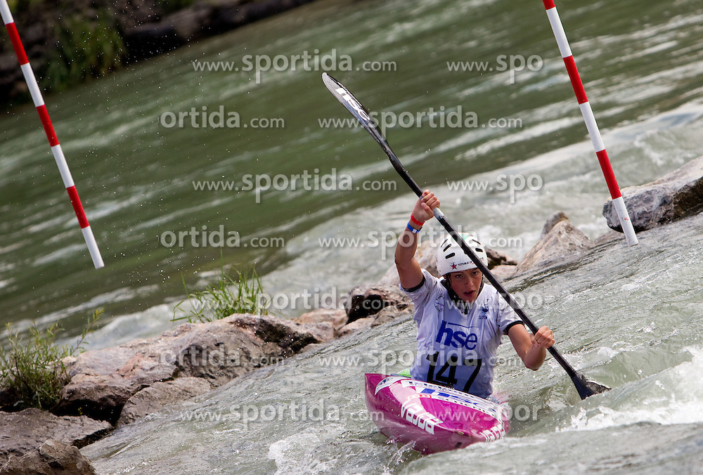 Ajda Novak of Slovenia competes during Kayak( K1) Women semifinal race at ICF Canoe Slalom World Cup Sloka 2011, on June 26, 2011, in Tacen, Ljubljana, Slovenia. (Photo by Vid Ponikvar / Sportida)