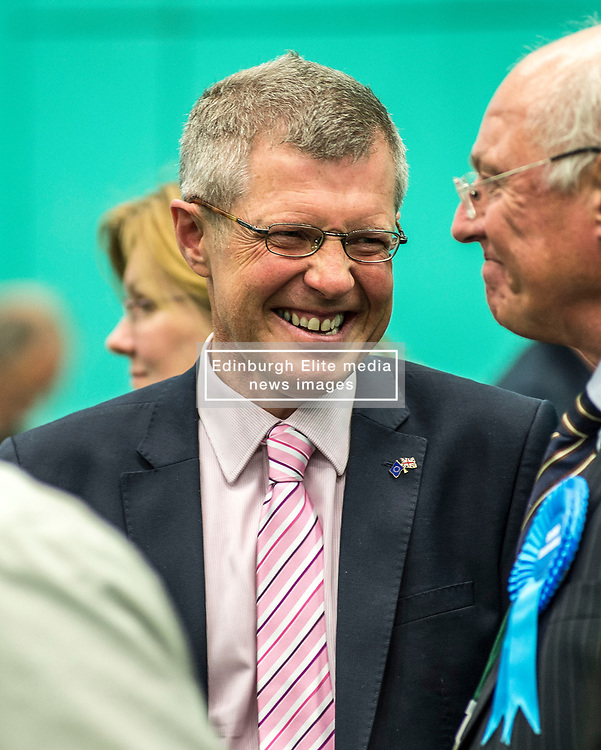 Lib Dem leader Willie Rennie at the Fife counts.<br /> <br /> © Dave Johnston/ EEm