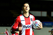 Lloyd James (4) of Exeter City during the EFL Sky Bet League 2 match between Exeter City and Luton Town at St James' Park, Exeter, England on 17 October 2017. Photo by Graham Hunt.
