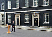 © Licensed to London News Pictures. 08/04/2013. London, UK British Prime Minister David Cameron makes a statement about the death of former Conservative Prime Minister Margaret Thatcher who died this morning from a suspected stroke aged 87. Photo credit : Stephen Simpson/LNP