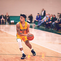 3rd year guard, Kameron Vales (3) of the Regina Cougars during the Men's Basketball Home Game on Fri Feb 01 at Centre for Kinesiology,Health and Sport. Credit: Arthur Ward/Arthur Images