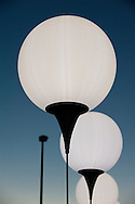 Berlin, Germany (8 November 2014). 9 November 2014 marked the 25th anniversary of the fall of the Berlin Wall, and on the preceding day some 8,000 large white illuminated balloons were placed long the course of the former Wall, ready to be released on 9 November. © Rudolf Abraham.