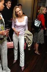 The HON.IMOGEN LLOYD WEBBER daughter of Andrew Lloyd Webber at a party to celebrate the publication of 'The Russian House' by Ella Krasner held at De Beers, 50 Old Bond Street, London W1 on 9th June 2005.<br />