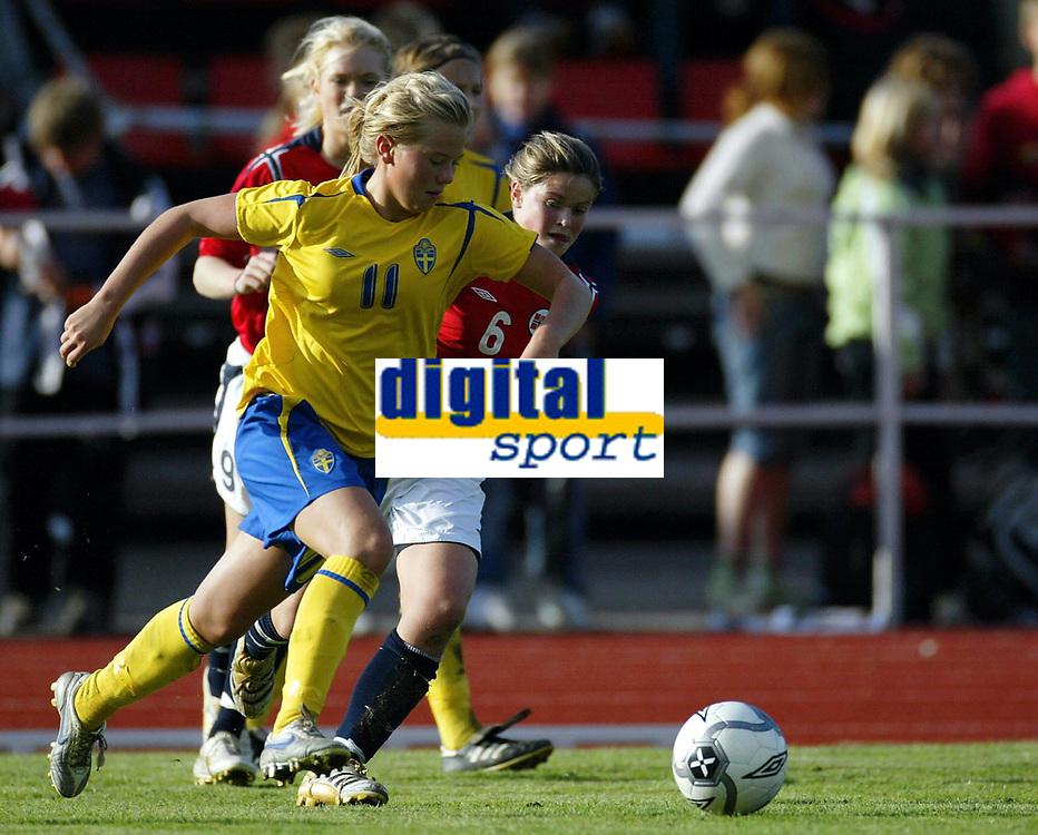 Fotball<br /> Landskamp J15/16 &aring;r<br /> Tidenes f&oslash;rste landskamp for dette alderstrinnet<br /> Sverige v Norge 1-3<br /> Steungsund<br /> 11.10.2006<br /> Foto: Anders Hoven, Digitalsport<br /> <br /> Ina Skaug - Teie / Norge<br /> Tilda Heimersson - Sverige