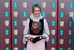 Edith Bowman on the red carpet ahead of the 2019 British Academy Film Awards at the Royal Albert Hall in London, England on 10th Feburary 2019. ©Ben Booth/Edinburgh Elite media