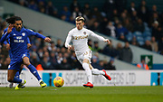 Leeds United midfielder Ezgjan Alioski (10)  during the EFL Sky Bet Championship match between Leeds United and Cardiff City at Elland Road, Leeds, England on 3 February 2018. Picture by Paul Thompson.