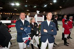 Philippaerts Ludo (BEL)  - Alexander Edwina (AUS) - Hemeryck Rik (BEL)<br /> Rolex FEI World Cup ™ Jumping Final <br /> 'S Hertogenbosch 2012<br /> © Dirk Caremans
