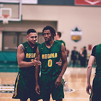 4th year guard, Gresihe Clerjuste (0) of the Regina Cougars during the Men's Basketball Home Game on Sat Nov 03 at Centre for Kinesiology,Health and Sport. Credit: Arthur Ward/Arthur Images