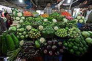 Vegetables at the Santinagar Market  in Dhaka, Bangladesh.