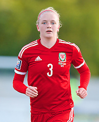 BANGOR, WALES - Thursday, May 8, 2014: Wales' Helen Bleazard in action against Montenegro during the FIFA Women's World Cup Canada 2015 Qualifying Group 6 match at the Nantporth Stadium. (Pic by David Rawcliffe/Propaganda)