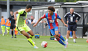 Keshi Anderson charges forward for Palace during the U21 Professional Development League match between Crystal Palace U21s and Huddersfield U21s at Imperial Fields, Tooting, United Kingdom on 7 September 2015. Photo by Michael Hulf.
