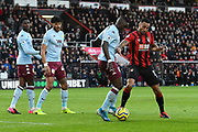 Marvelous Nakamba (11) of Aston Villa battles for possession with Callum Wilson (13) of AFC Bournemouth during the Premier League match between Bournemouth and Aston Villa at the Vitality Stadium, Bournemouth, England on 1 February 2020.
