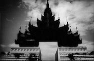 Gates to the Mandalay Palace, Burma.