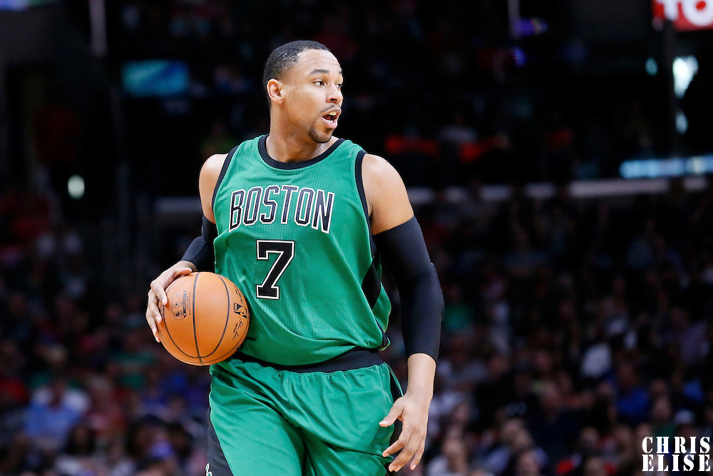 19 January 2015: Boston Celtics forward Jared Sullinger (7) brings the ball up court during the Los Angeles Clippers 102-93 victory over the Boston Celtics, at the Staples Center, Los Angeles, California, USA.