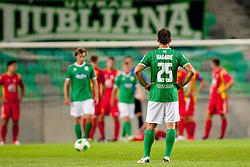 Davor Begaric #25 of NK Olimpija during football match between NK Olimpija Ljubljana and NK Rudar Velenje in 1st Round of PrvaLiga Telekom Slovenije 2013/14 on July 13, 2013 in SRC Stozice, Ljubljana, Slovenia. (Photo By Urban Urbanc / Sportida.com)
