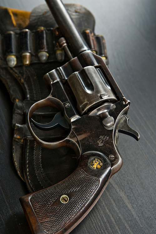 Photographs of Mark Hiebert's Great Grandfather Henry Hiebert's .38 special Colt Officers Model