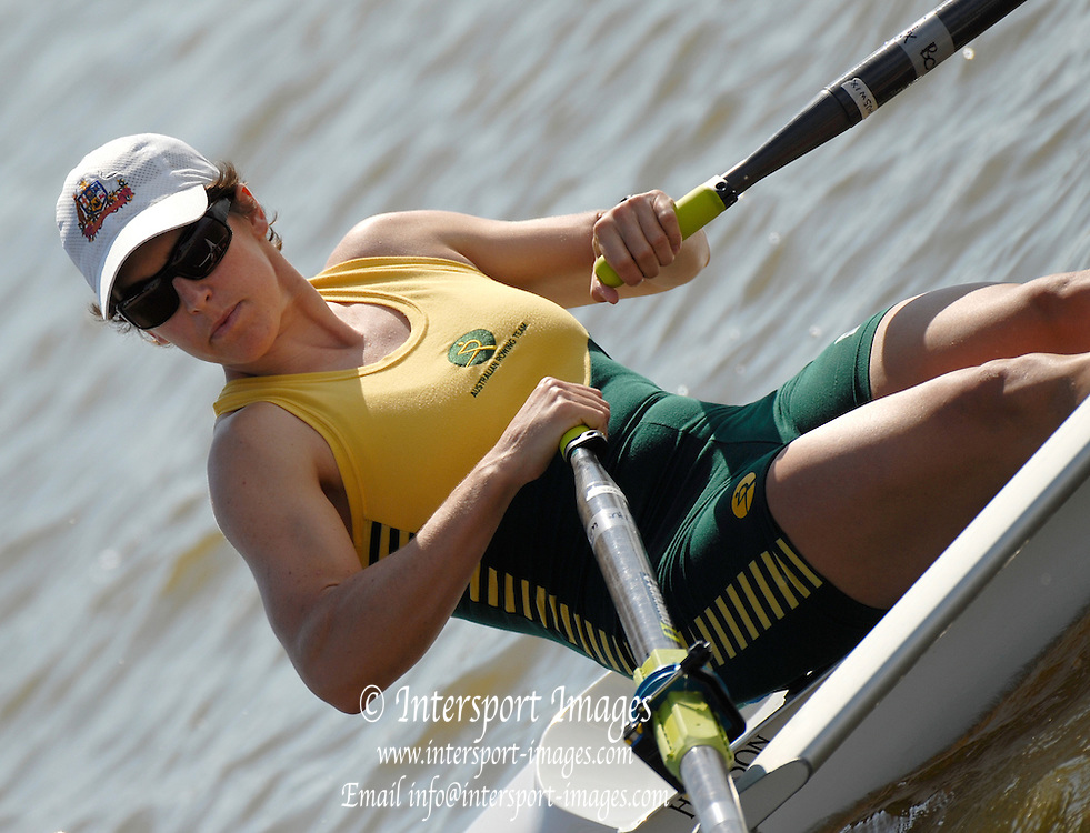Oklahoma, USA, AUS W1X Robyn SELBY SMITH in the in the USA World Rowing Challenge, held on The Oklahoma River, Oklahoma City, Fri. 12.10.2007 [Mandatory Credit. Peter Spurrier/Intersport Images]..... , Rowing Course: Oklahoma River, Oklahoma City, Oklahoma, USA