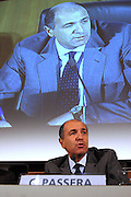 Corrado Passera, Managing Director Banca Intesa, during the press conference to present the project of merger with Sanpaolo IMI in Milan, October 12, 2006.