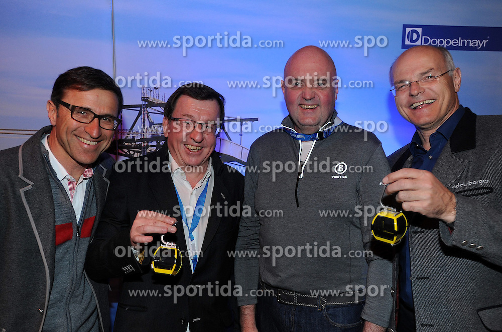 14.02.2014, Austria Tirol House, Krasnaya Polyana, RUS, Sochi, 2014, im Bild TIROL WERBUNG DOPPELMAYR &Ouml;OC ABEND<br /> JOSEF MARGREITER JAKOB FALKNER MICHAEL DOPPELMAYR, KARL STOSS<br /> BENJAMIN MAIER, MARKUS SAMMER // TIROL WERBUNG DOPPELMAYR &Ouml;OC ABEND<br /> JOSEF MARGREITER JAKOB FALKNER MICHAEL DOPPELMAYR, KARL STOSS<br /> BENJAMIN MAIER, MARKUS SAMMER during the Olympic Winter Games Sochi 2014 at the Austria Tirol House in Krasnaya Polyana, Russia on 2014/02/14. EXPA Pictures &copy; 2014, PhotoCredit: EXPA/ Erich Spiess