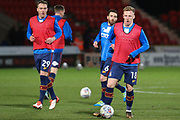 Bradford City midfielder Callum Guy warms up ahead of the EFL Sky Bet League 1 match between Doncaster Rovers and Bradford City at the Keepmoat Stadium, Doncaster, England on 19 March 2018. Picture by Aaron  Lupton.