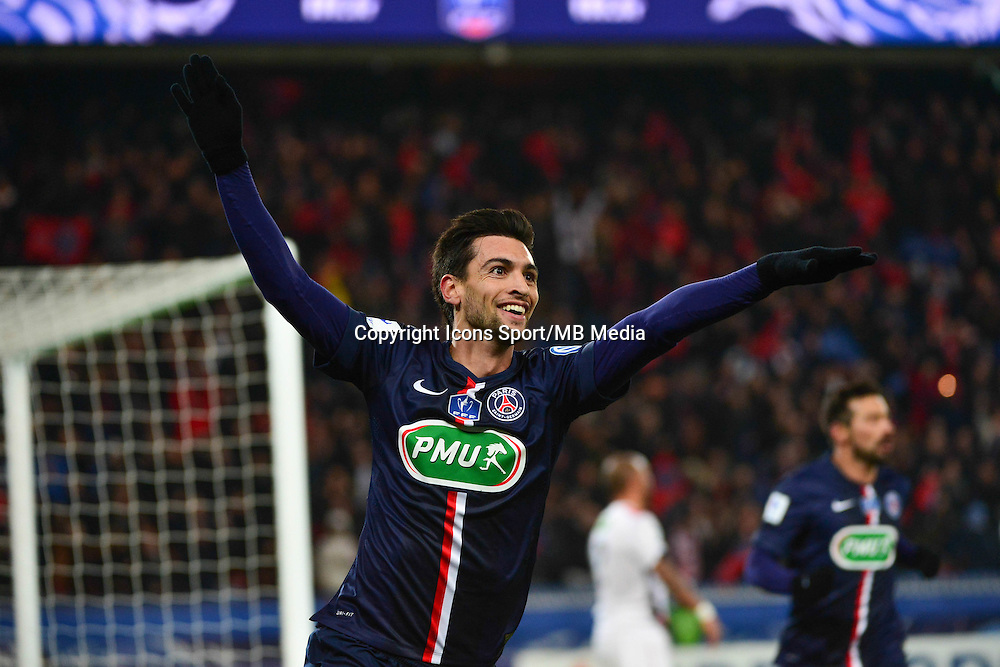 Joie Javier PASTORE - 21.01.2015 - Paris Saint Germain / Bordeaux - Coupe de France<br />