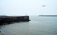 Havenhoofd van de haven bij Scheveningen - Pier at the harbour of Scheveningen, The Hague