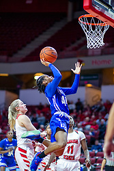 NORMAL, IL - January 03: Caitlin Anderson gets an inside look during a college women's basketball game between the ISU Redbirds and the Sycamores of Indiana State January 03 2020 at Redbird Arena in Normal, IL. (Photo by Alan Look)