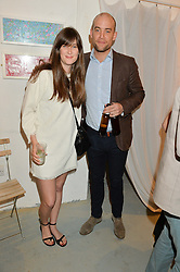 JEMIMA HOBSON and LUKE GAMBLE at a private view of an exhibition entitled 'All Shook Up' - by Natasha Archdale: A Retrospective held at 90 Piccadilly, London on 23rd April 2015.