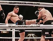 DEN BOSCH, THE NETHERLANDS. 2017, MAY 20. Rico Verhoeven vs Ismael Lazaar tijdens Glory Kickboxing 41 Holland in de Brabanthallen.