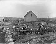 Carna.  Boat Bulding with the Cloherty family..14/05/1959<br />