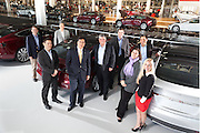 The Tesla legal team in the manufacturing plant in Fremont, California.