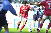 Peter Spurrier Sports  Photo.email pictures@rowingpics.com.Tel 44 (0) 7973 819 551.Nationwide Division 2 .Wycombe Wanders FC v Swindon Town FC..27-10-2001.1st Half..Paul  Edwards .