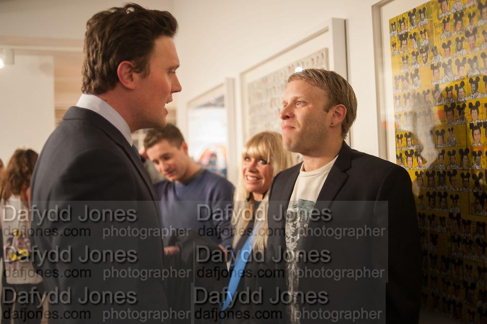 JACK MACDONALD; TRYONE WOOD; JO WOOD; JAMIE WOOD, Pakpoom Silaphan 'Empire State' Opening Reception, Scream. Eastcastle St. London. 21 February 2013
