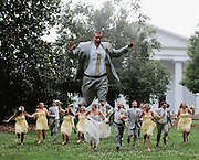 The hilarious Russian marriage snaps that show how NOT to take a wedding photo<br /> <br /> It's supposed to be the happiest day of your life, so what better way to celebrate your wedding than by posing as centaurs to demonstrate your love? Or riding a giant swan? Or perhaps fleeing a fire-throwing Transformer?<br /> <br /> From the crude, to the rude, to the downright bizarre, this collection of images of provincial Russians getting married show exactly how not to take wedding photographs.<br /> <br /> Several are carefully choreographed pictures that turn out to be absurd the moment the posing is over, yet they remain in the family albums for posterity. Others seem to be the newly betrothed wife seeking to show who is the boss after the nuptials.<br /> Cars feature strongly - in one picture the couple's faces are superimposed on the wheels as they begin the journey on the family road to happiness. most cases, though, you wouldn't know this is supposed to the happiest day of their lives, though one couple are look full of joy as they serenade a statue of Soviet founder Vladimir Lenin.<br /> <br /> The popular blogger who goes under the name 'pryf' simply says 'How not to take wedding pictures', and his montage is spreading like wildfire round the web.<br /> ©Exclusivepix